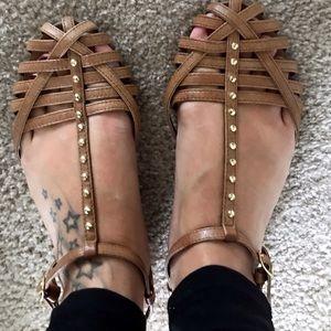 Steve Madden gold studded sandals